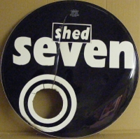"Shed Seven - Bass Drum Skin [Original 22"" bass skin, with logo]"