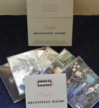 Oasis - Definitely Maybe, CD singles silver box set, 5 x CD's plus extra